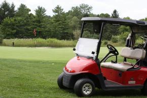 Golf Cart on fairway
